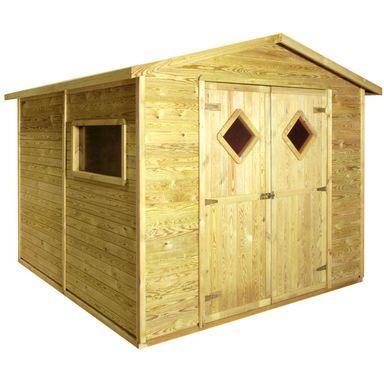 Domek narzędziowy drewniany CARO 264 x 262 cm STELMET