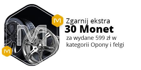 +30 Monet za zakupy od 599 zł w kategorii Opony i felgi