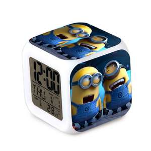 Budzik LED Minionki z termometrem @Everbuying