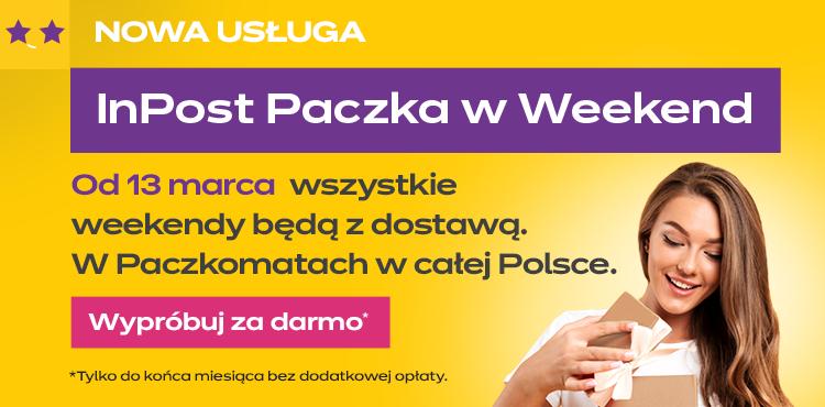 InPost - Darmowa, dodatkowa usługa Weekend do końca kwietnia .