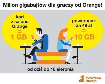 Orange 1GB Internetu za darmo!
