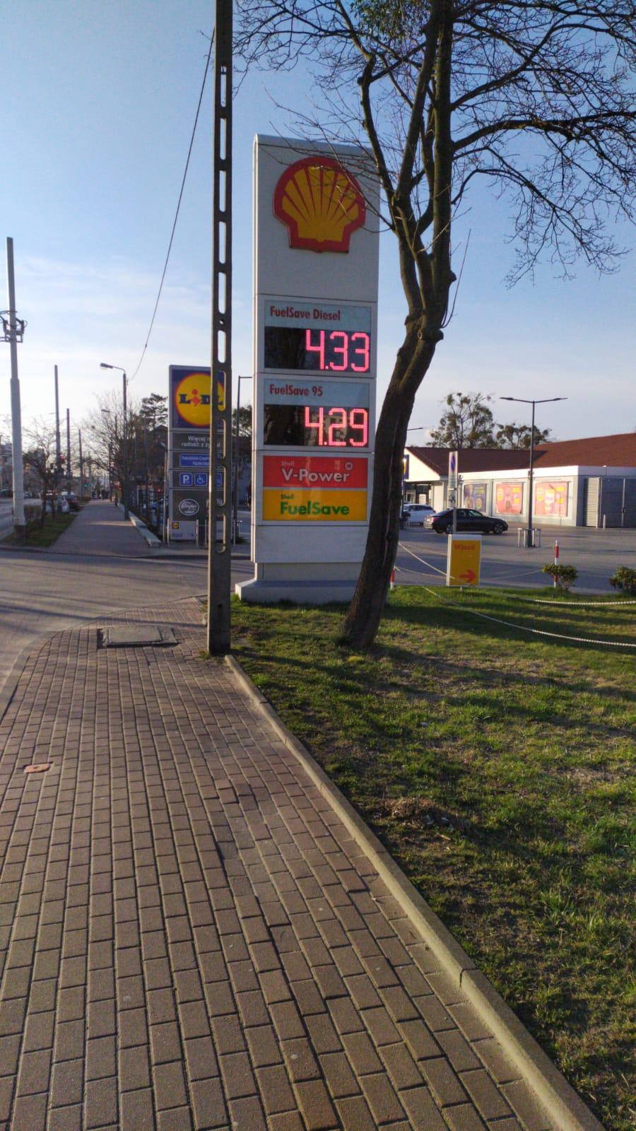 Shell Gdynia Chylońska BP95 4,29zł