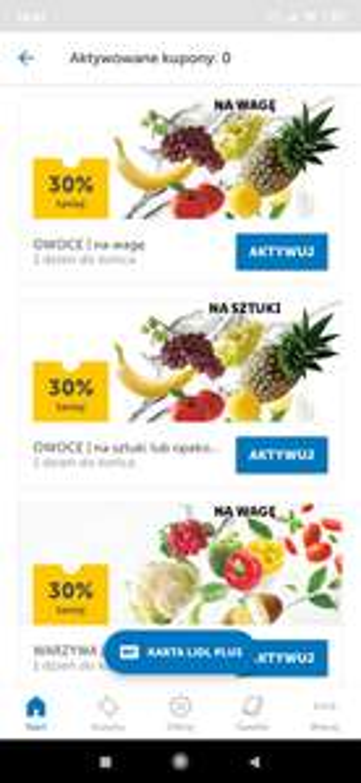 Lidl plus wszystkie owoce i warzywa -30%