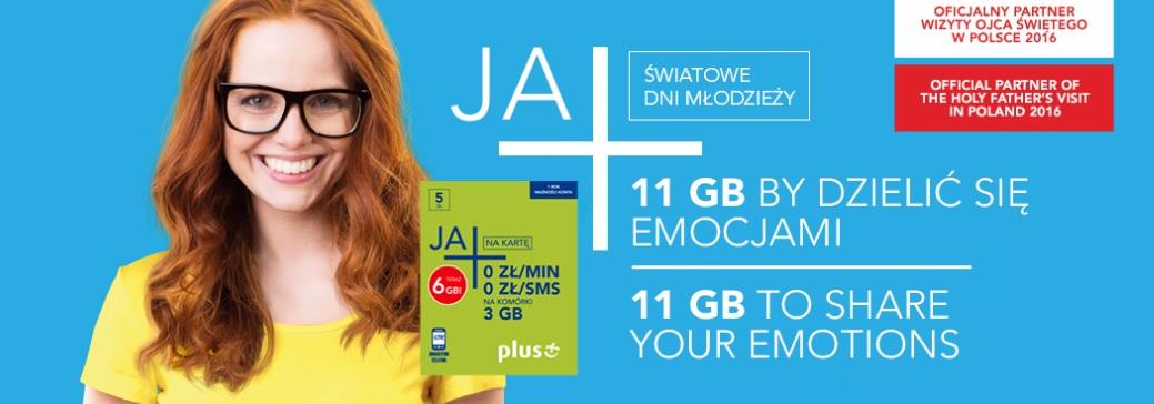 Plus: 11 GB i no-limit na ŚDM za 29 zł