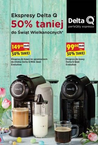 Promocja na ekspresy do kawy Delta Q 50% taniej