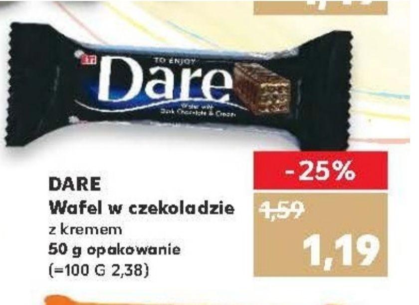 Wafel w czekoladzie Dare. Kaufland
