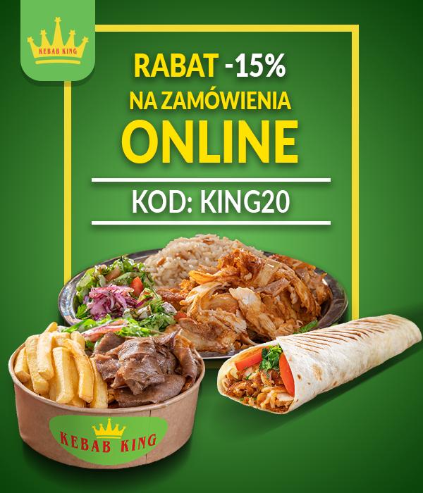 Kebab King -15% na zamówienia online