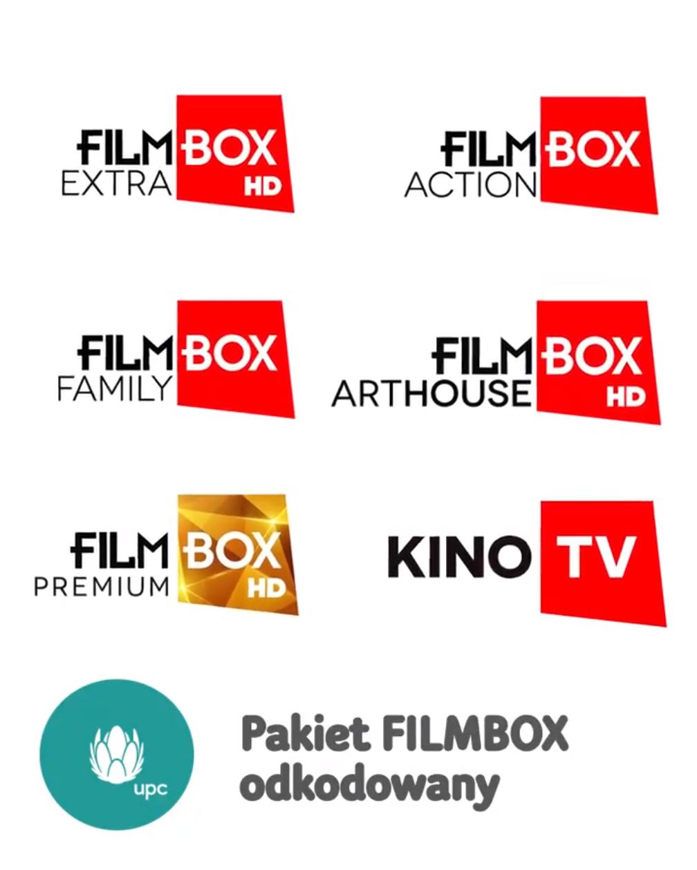 UPC - odkodowany pakiet kanałów FilmBox