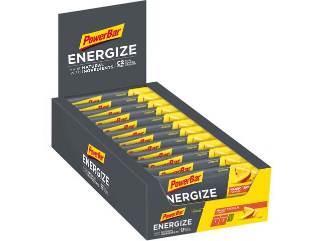 PowerBar Batoniki energetyczne z naturalnymi składnikami - opakowanie 25x55g, 2 smaki Mango Tropical / Salty PeanutSalty Peanut