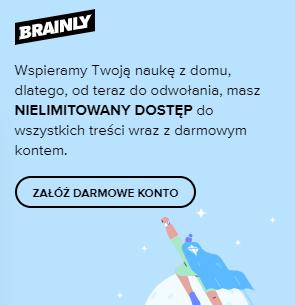 brainly.pl - nielimitowany dostęp do wszystkich treści do odwołania (brainly+ ZA DARMO)