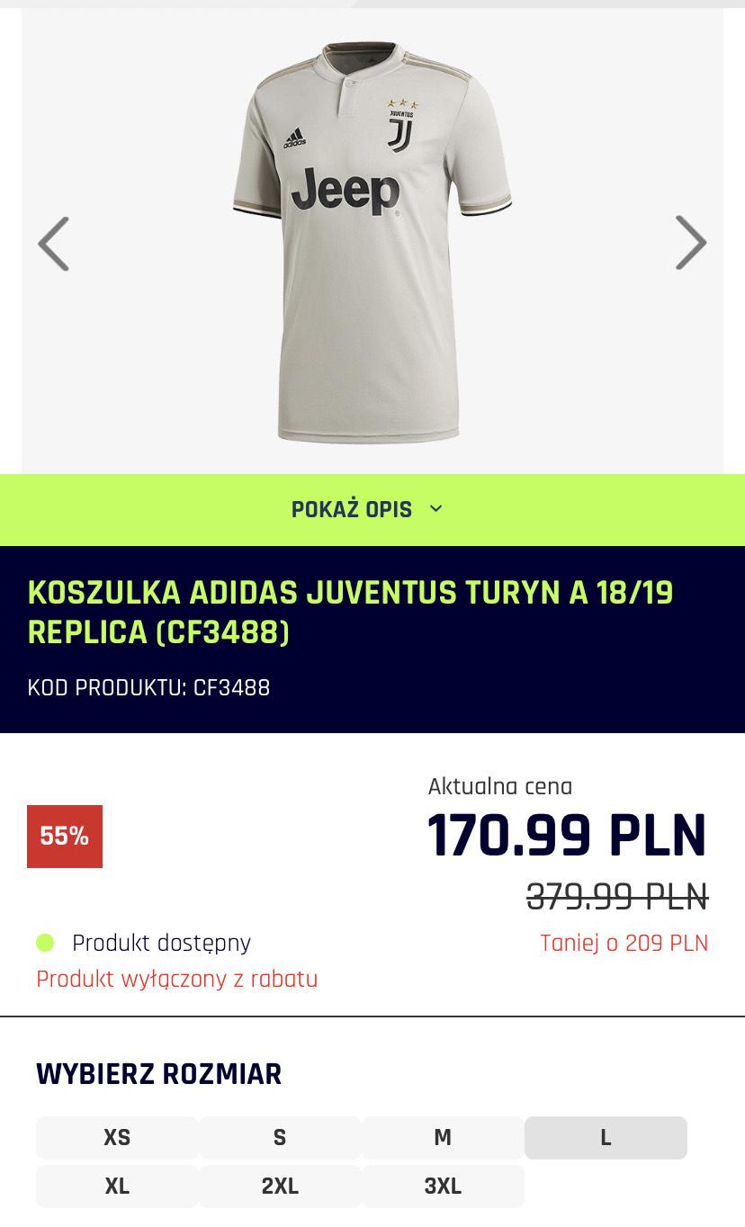Zgoda FC Koszulki klubowe m.in.Juventus