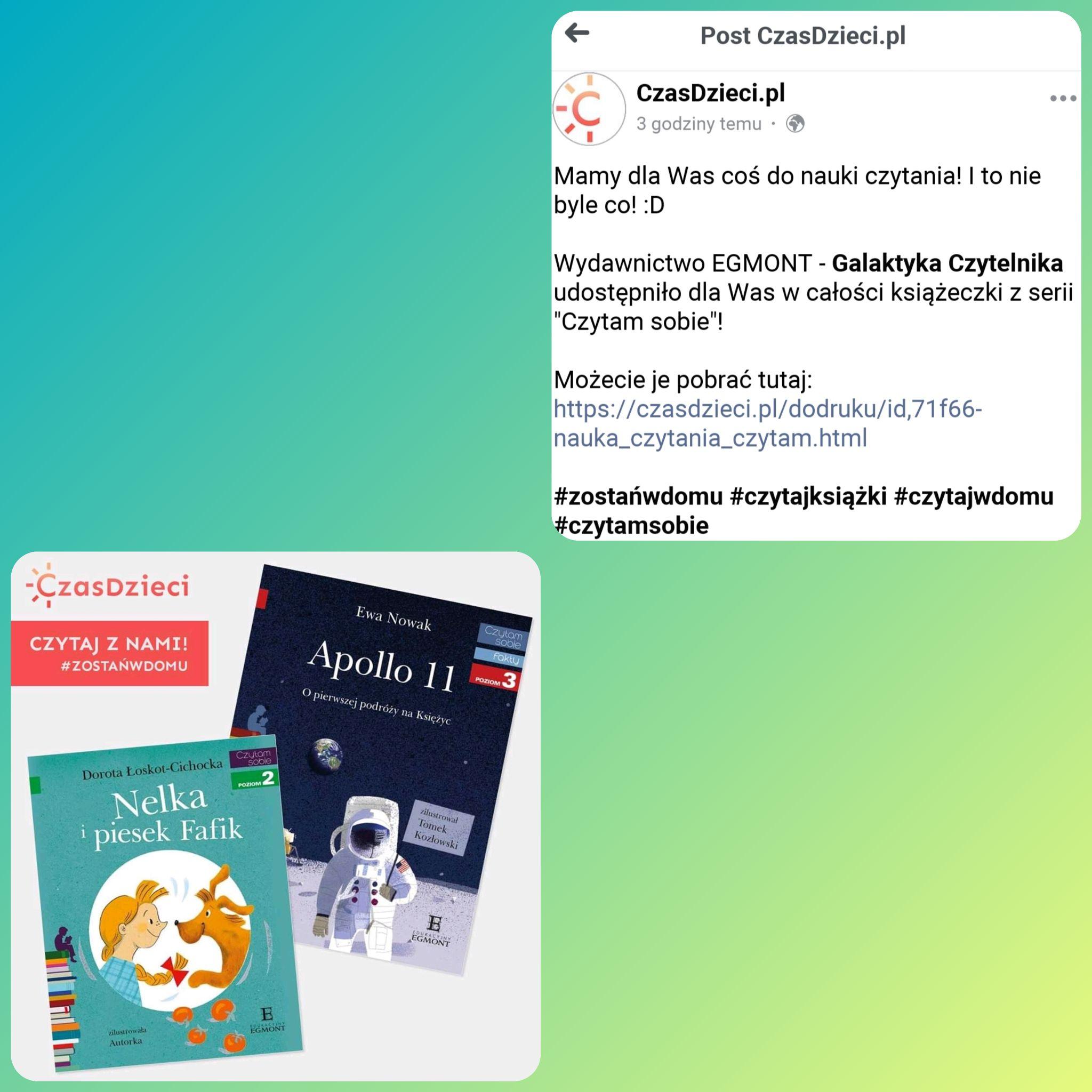 Książki wydawnictwa Egmont - za darmo.