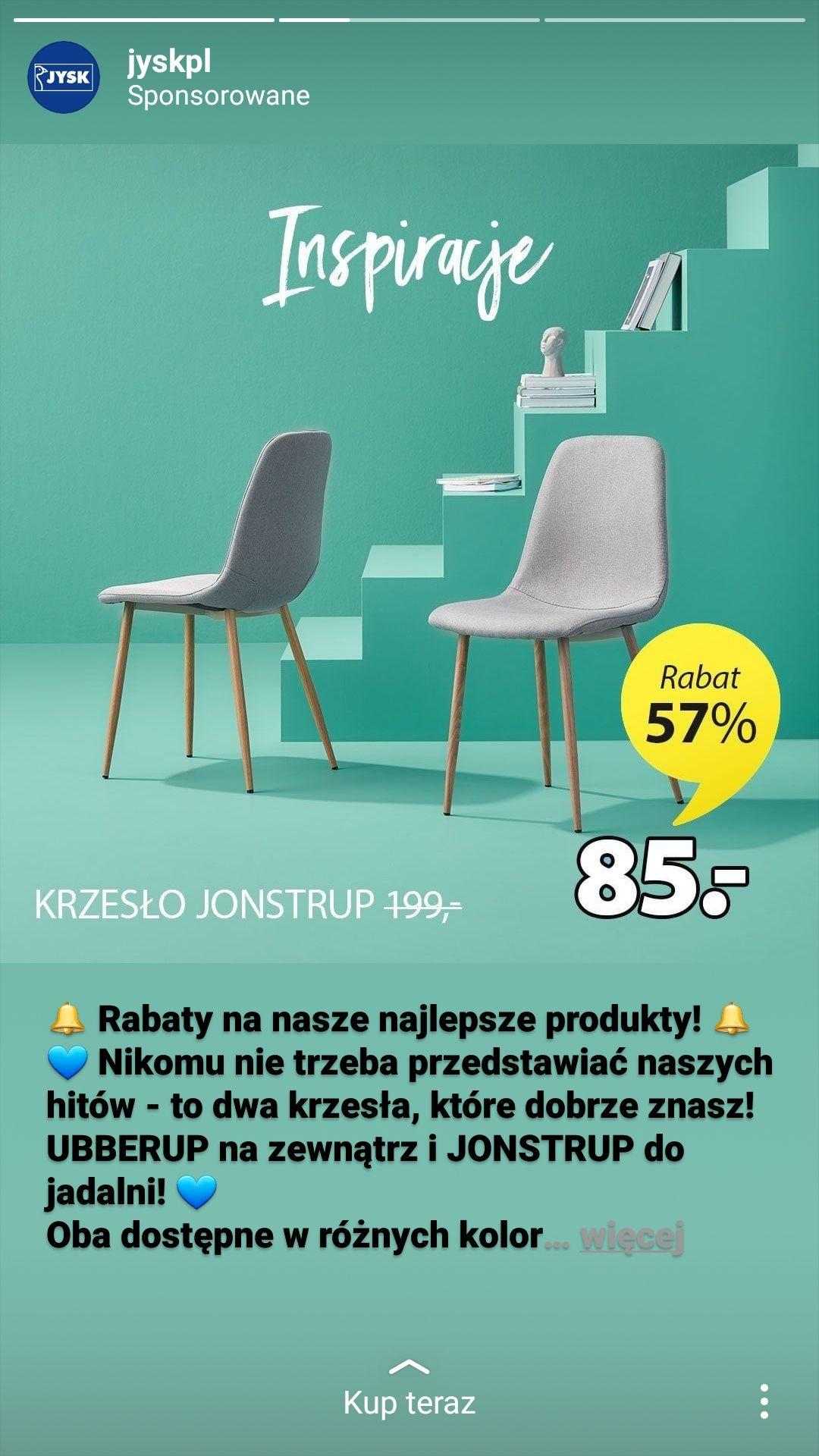 Rabat 57% na krzesło w Jysk. ;)