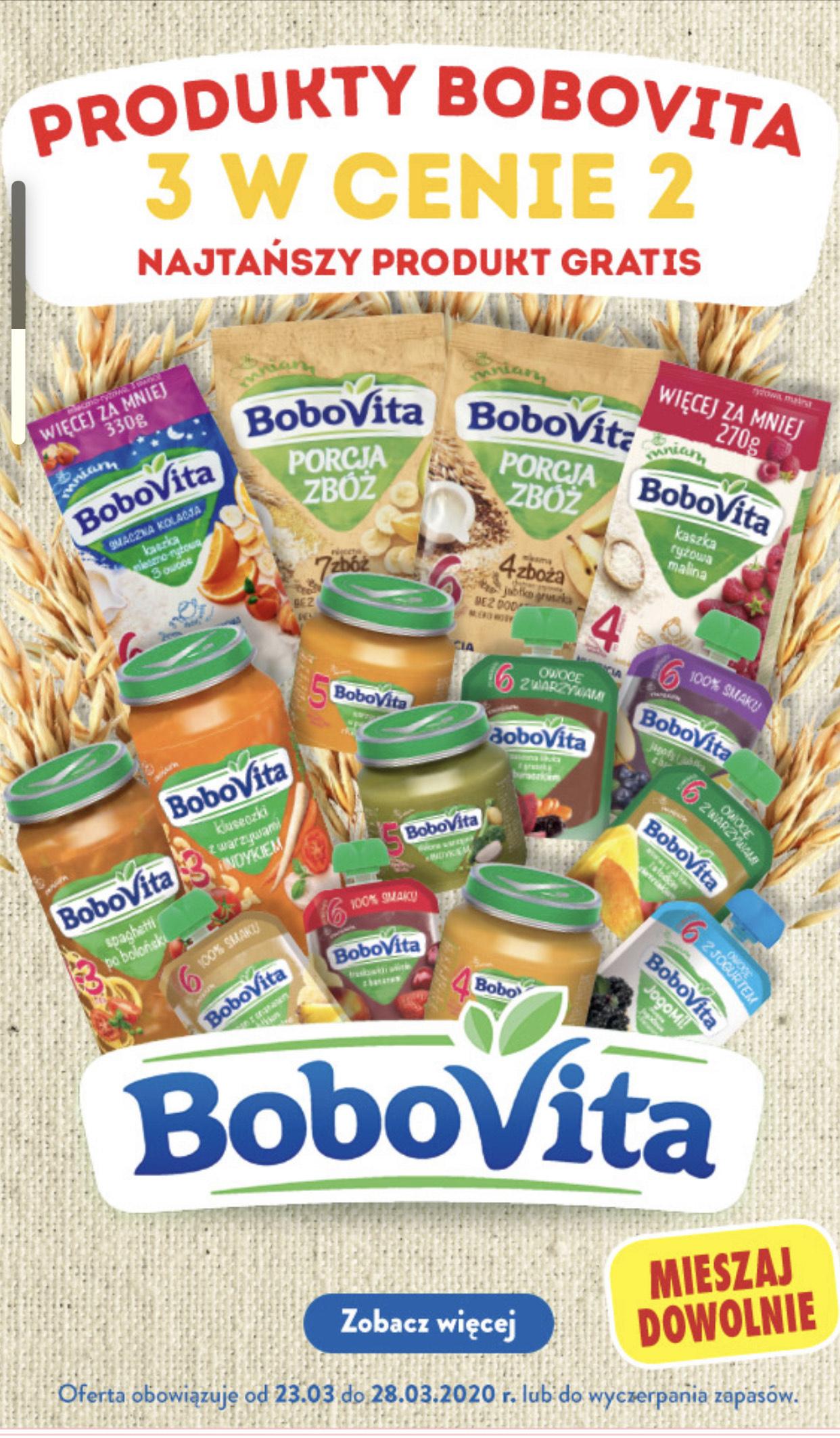 Bobovita w Biedronce 2+ 1 gratis