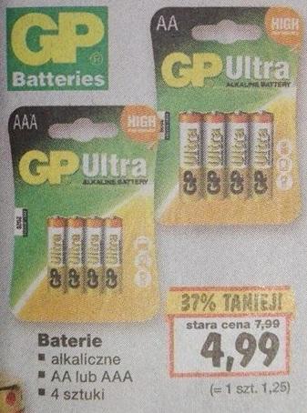 Baterie Alkaiczne GP za 4,99 w Kauflandzie