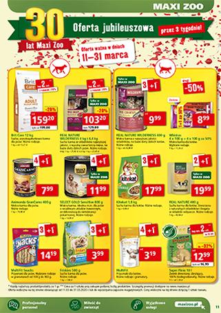 Maxi Zoo - promocja na karmę dla psa i kota w sklepach stacjonarnych do -50%