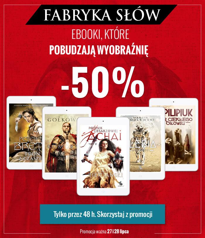 50% rabatu na eBooki wydawnictwa Fabryka Słów (Ziemiański, Pilipiuk, Kossakowska) @ Virtualo