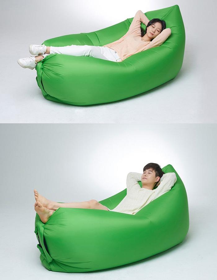 Oryginalny LazyBag, czyli samonadmuchujący się poduszko-leżak - 19$ @Everbuying