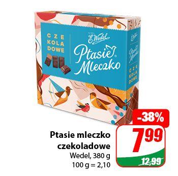 Ptasie mleczko czekoladowe Wedel 380g - DINO