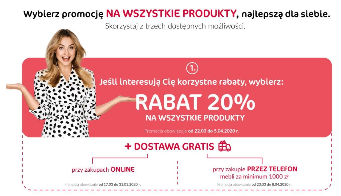 Agata Meble - rabat 20% lub 60 rat lub 150 zł + darmowa dostawa