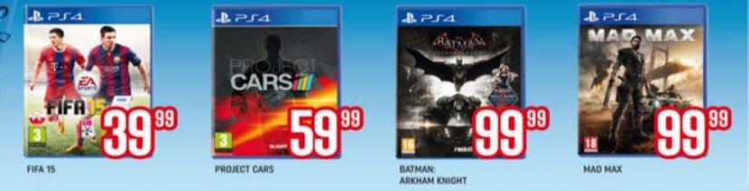 Wyprzedaż gier na PS4: Project Cars za 59,99zł, FIFA15 za 39,99zł, Batman Arkham Knight za 99,99zł @ Neonet