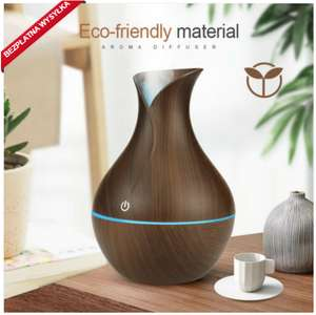 Odświeżacz Nawilżacz powietrza zapach domowy z światłem LED, stylowy design