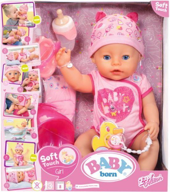 Interaktywna lalka Baby Born 824368, zabawka