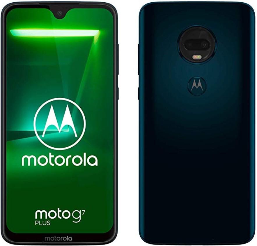 Motorola G7 Plus 4/64 głośniki stereo, OIS, NFC, pełny Dual Sim, ładowanie Turbo Power 27W, czysty Android. Smartfon z PL-OleOle (granatowy)