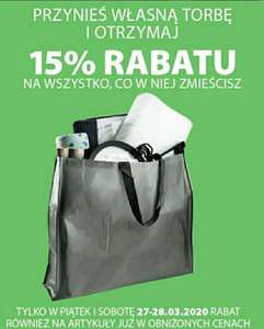 Jysk rabat 15% na wszystko co zmieścisz w SWOJEJ torbie piątek i sobota 27/28.03