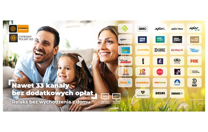 """Cyfrowy Polsat wydłuża i wzbogaca """"otwarte okno"""". 33 kanały dostępne bez dodatkowych opłat."""