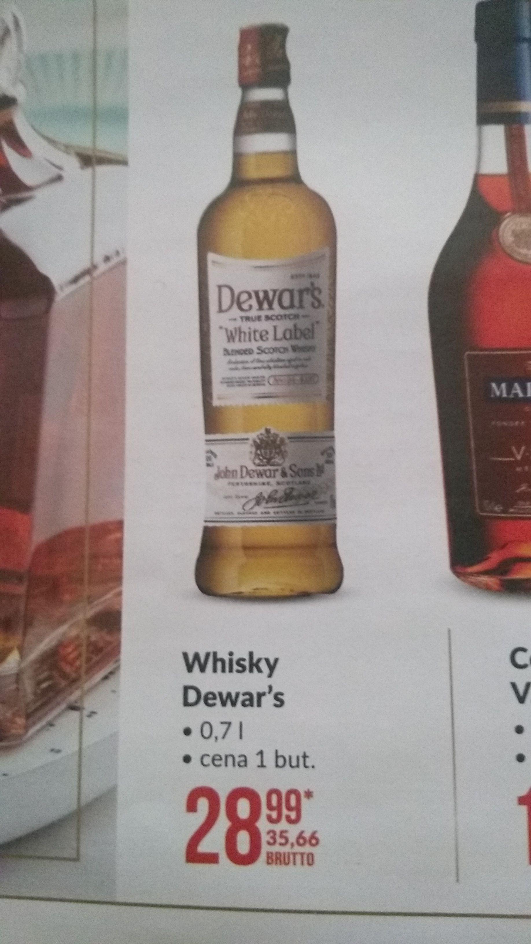Whisky Dewar's 0,7l w Makro. Cena przeliczona na detaliczną.