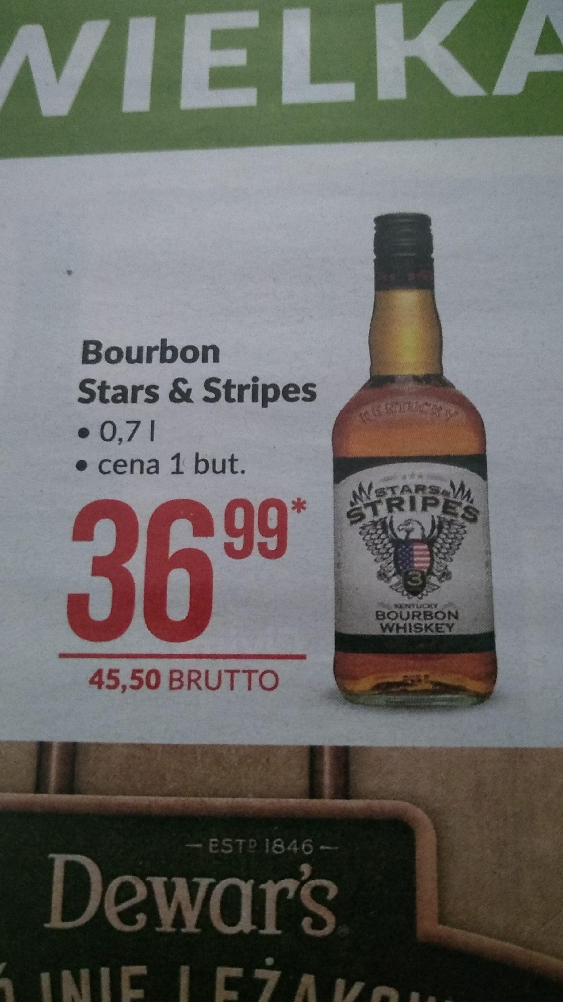 Bourbon Whiskey Stars & Stripes 0,7l w Makro. Cena przeliczona na detaliczną.