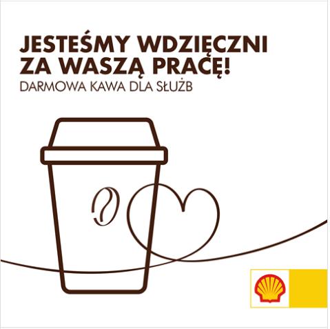 Darmowa kawa, herbata dla wszystkich pracowników służb - wszystkie stacje Shell