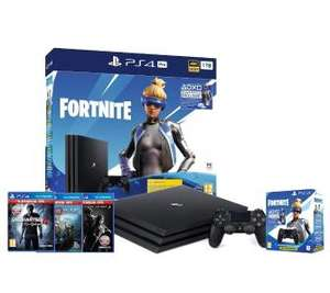 Sony PlayStation 4 Pro 1TB Fortnite Neo Versa Bundle + The Last of Us + God of War + Uncharted 4 Kres Złodzieja + 2 pady