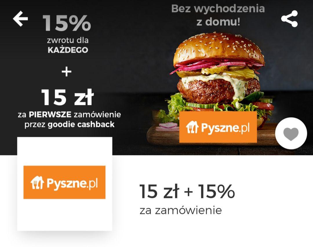 Pyszne.pl cashback 15%