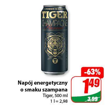 Napój energetyczny Tiger o smaku szampana - Dino