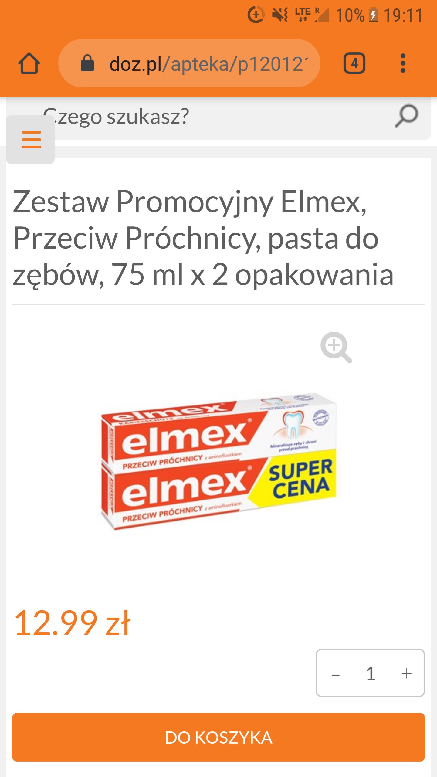 Pasta Elmex 2 sztuki za 12.99