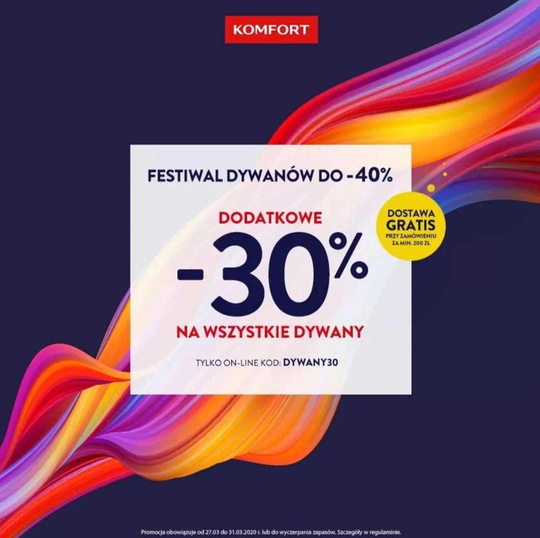 -30% na wszystkie dywany @komfort.pl