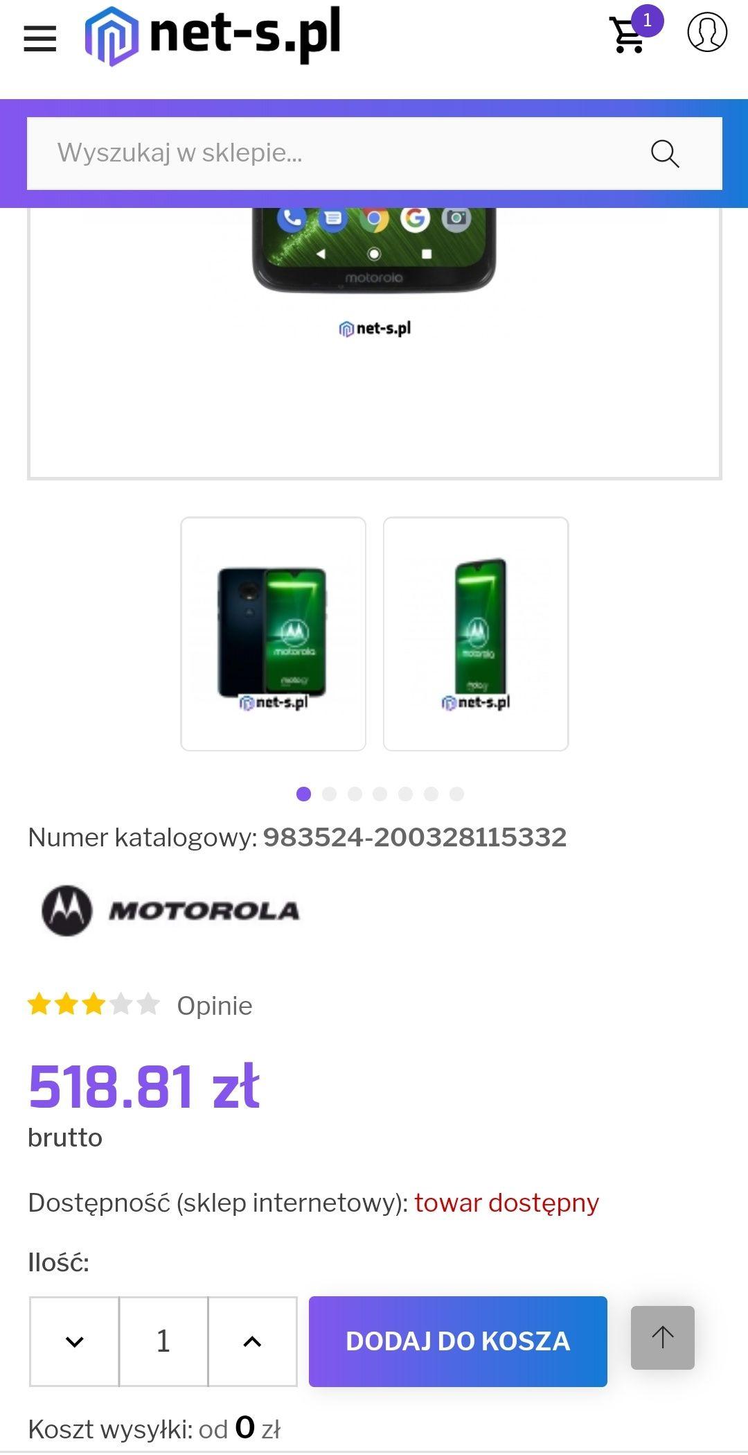 Motorola G7 Plus 4/64GB Deep Indigo !
