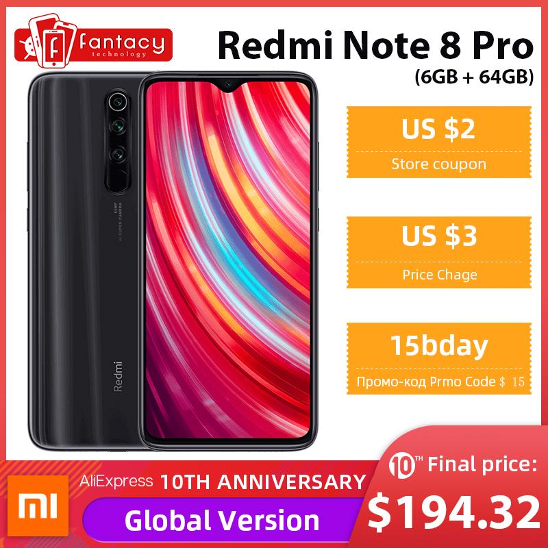 Xiaomi Redmi Note 8 Pro 6/64 dostawa z PL @ Aliexpress