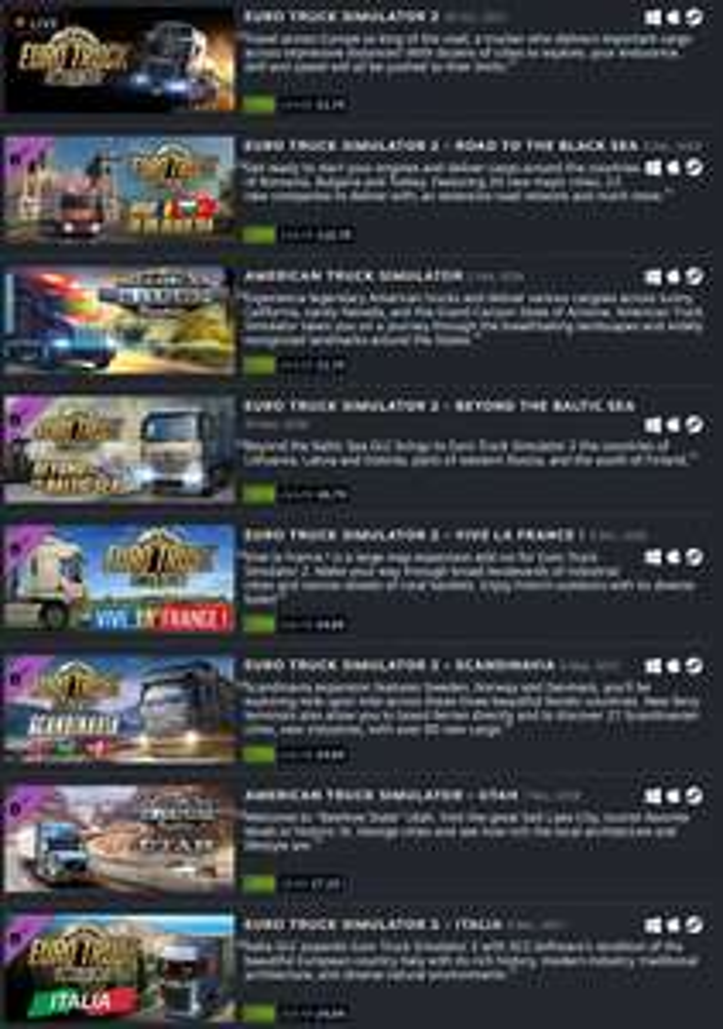 Euro Truck Simulator 2 / American Truck Simulator w promocji, poza tym DLC