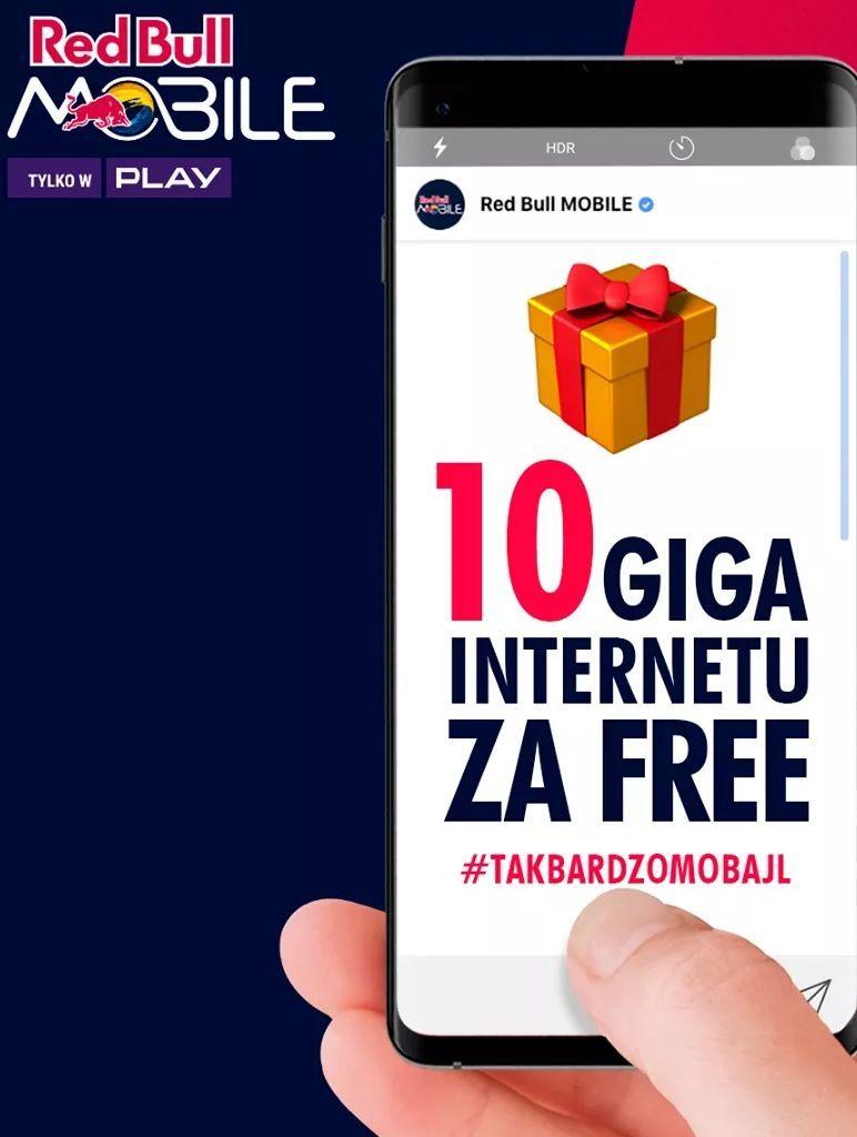 Red Bull mobile 10GB za free dla abonentów