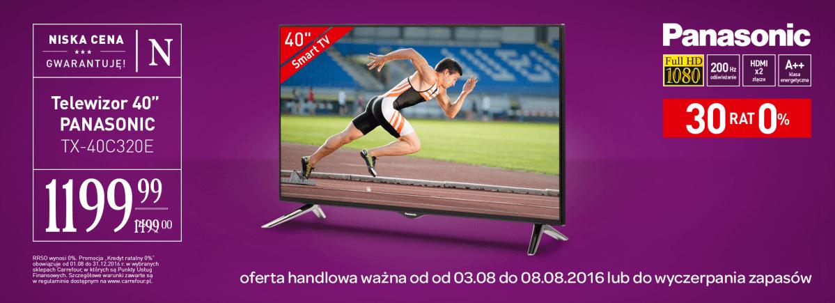 """Telewizor LED Panasonic TX-40C320E (40"""", Full HD, Smart TV) @ Carrefour"""