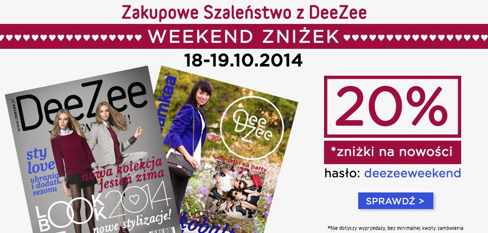 Weekend wyprzedaży: -20% na nowy asortyment @ DeeZee.pl