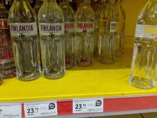 Finlandia smakowa (żurawina, grejpfrut, czarna porzeczka) 0,7l - 43% taniej