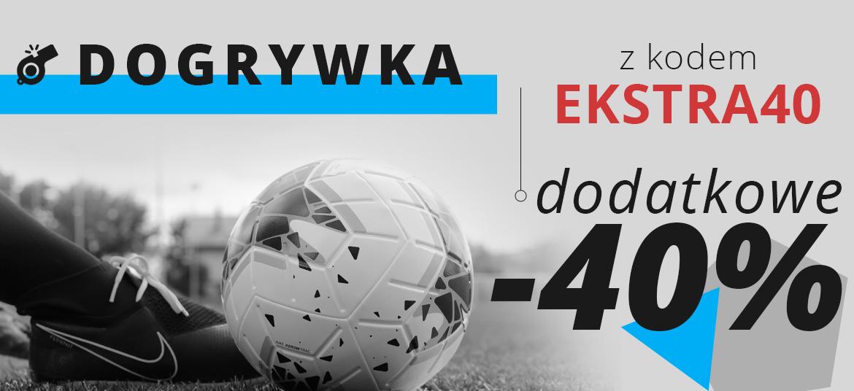 Dodatkowe 40% rabatu na produkty (w tym przecenione) na futboloutlet.pl