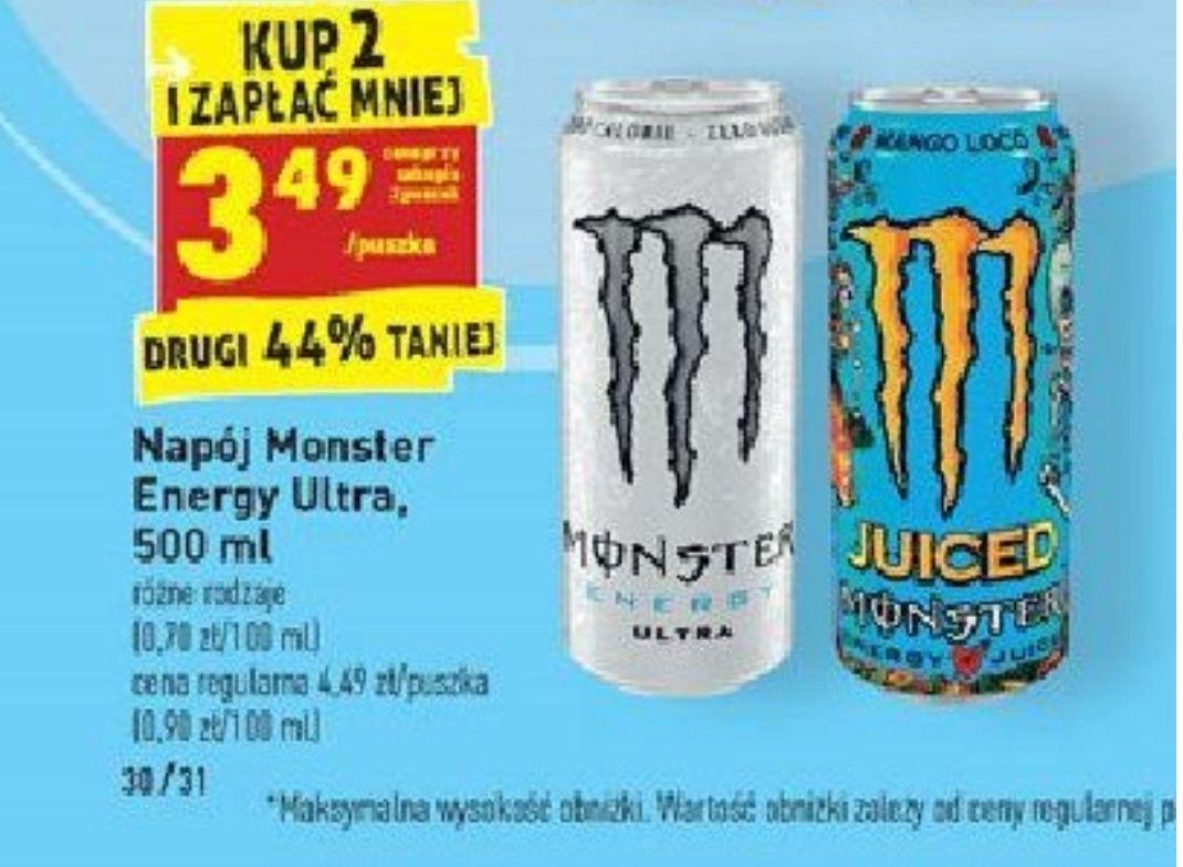 Kup 2 i zapłać mniej. Napój Monster Energy. Biedronka