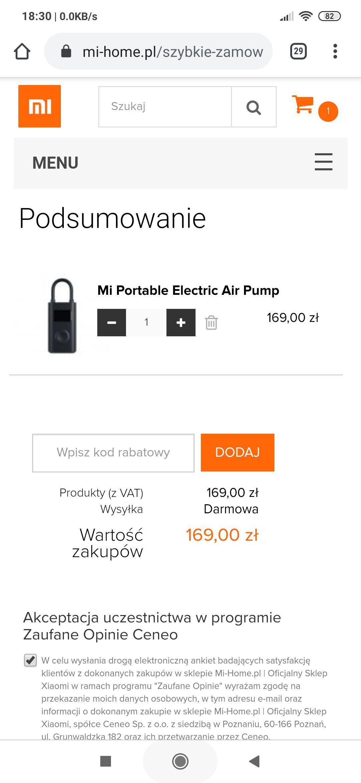 Pompka Xiaomi Mi Portable Electric Air Pump