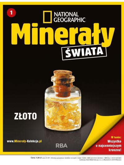 Trzy numery kolekcji Minerały Świata National Geographic