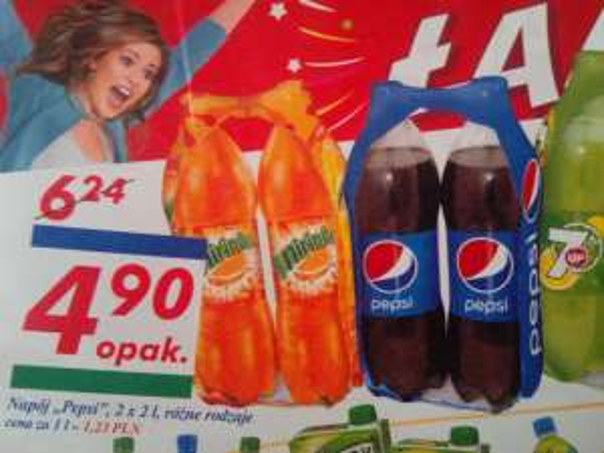 Dwupak Pepsi/Mirinda/7Up w butelkach 2l w Auchan